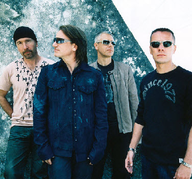 Irish Rock Band U2. Courtesy of U2.com.