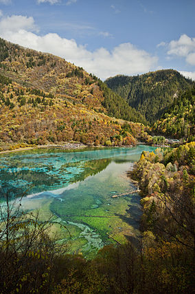 Five Flower Lake, Jiuzhaigou Valley - Photo courtesy of: wikipedia.com