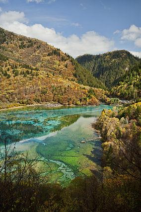 Five Flower Lake, Jiuzhaigou Valley - Photo courtesy of: wikipedia.com