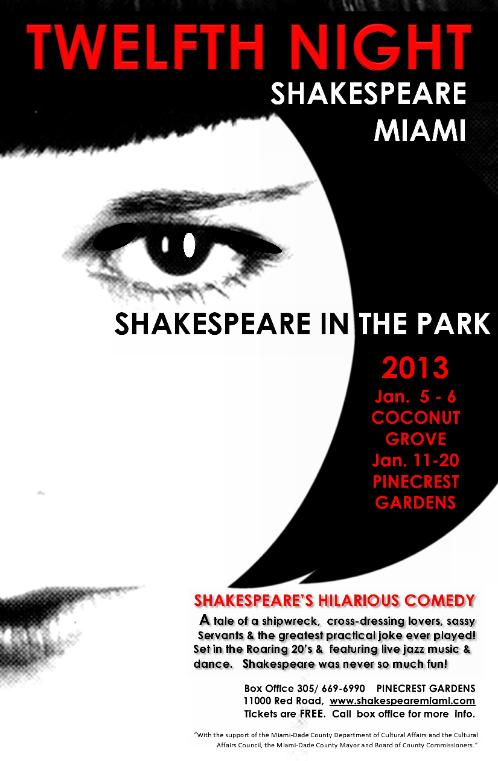Photo courtesy of: www.shakespearemiami.com